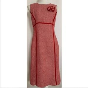 Talbots womens dress size 6P 6 petites sheath red